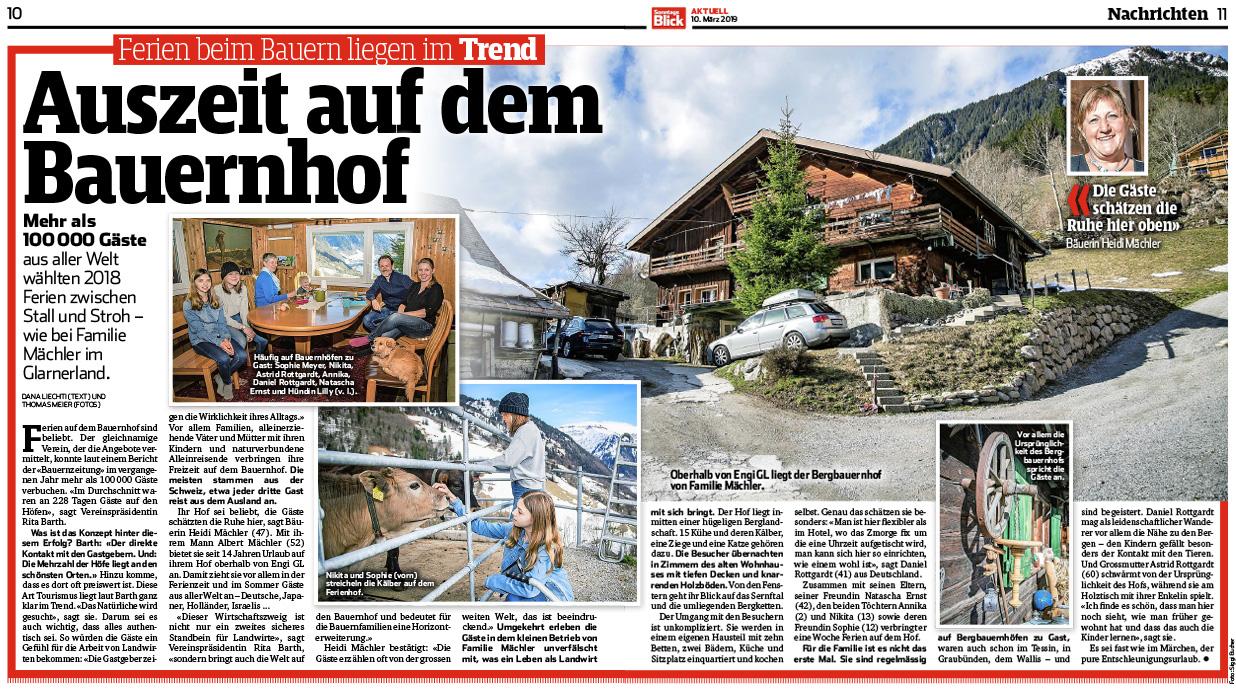 Reportage auf SonntagsBlick.ch